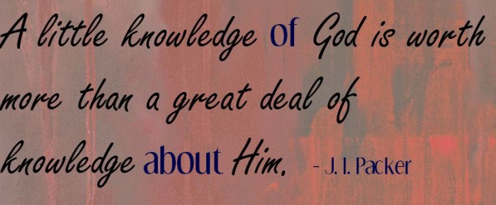 Why do you want to know God?