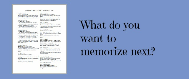 Day 24: Plan for next time {Tools for memorizing}
